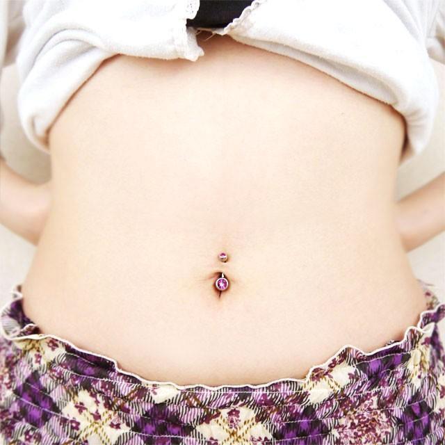 ボディピアス 14G へそピアス ダブルジュエリーネイブル ボディーピアス piercing-nana 15