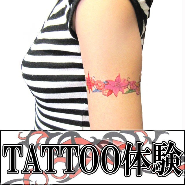 タトゥーシール 2枚セット バタフライ×フラワー ボディーシール|piercing-nana|03