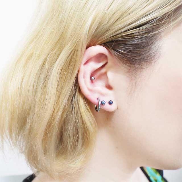 ボディピアス カラーチタンストレートバーベル 16G ボディーピアス 軟骨ピアス|piercing-nana|12