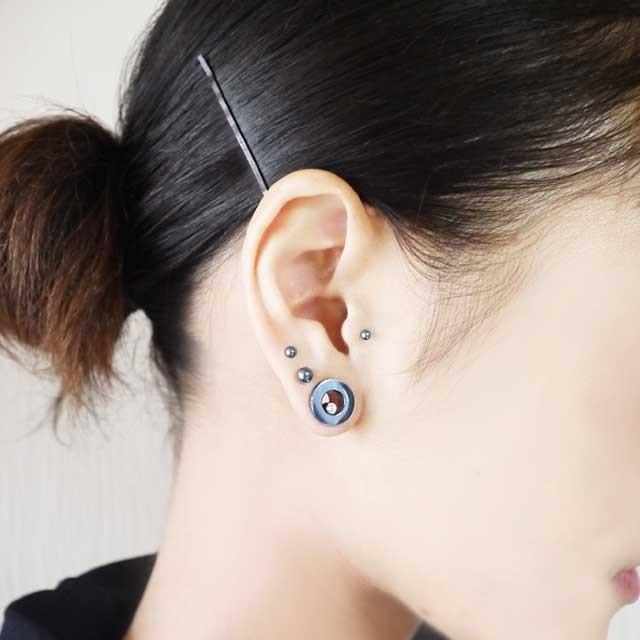 ボディピアス カラーチタンストレートバーベル 16G ボディーピアス 軟骨ピアス|piercing-nana|15