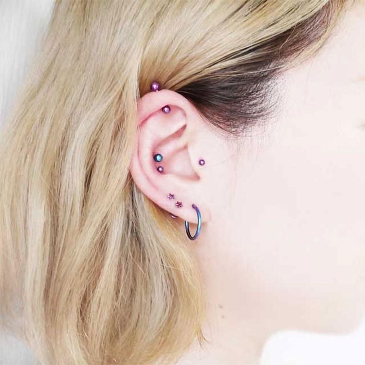 ボディピアス カラーチタンストレートバーベル 16G ボディーピアス 軟骨ピアス|piercing-nana|10