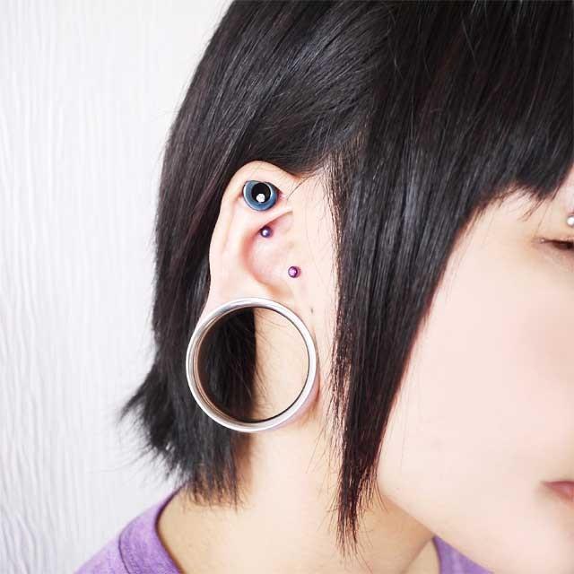 ボディピアス カラーチタンストレートバーベル 18G ボディーピアス 軟骨ピアス piercing-nana 14