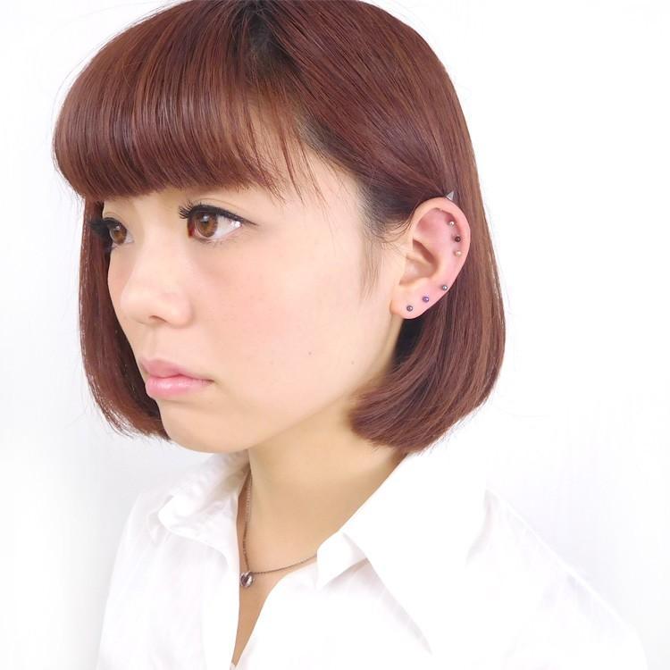 ボディピアス カラーチタンストレートバーベル 18G ボディーピアス 軟骨ピアス piercing-nana 08