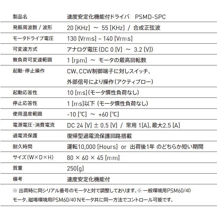 速度安定化機能付ドライバ PSMD-SPC|piezo-sonic|03