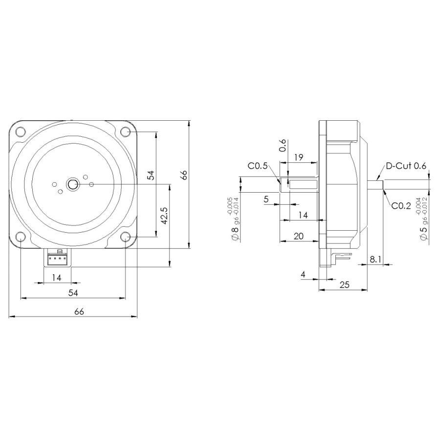 磁場環境用 両軸モータ PSM60N-B|piezo-sonic|02