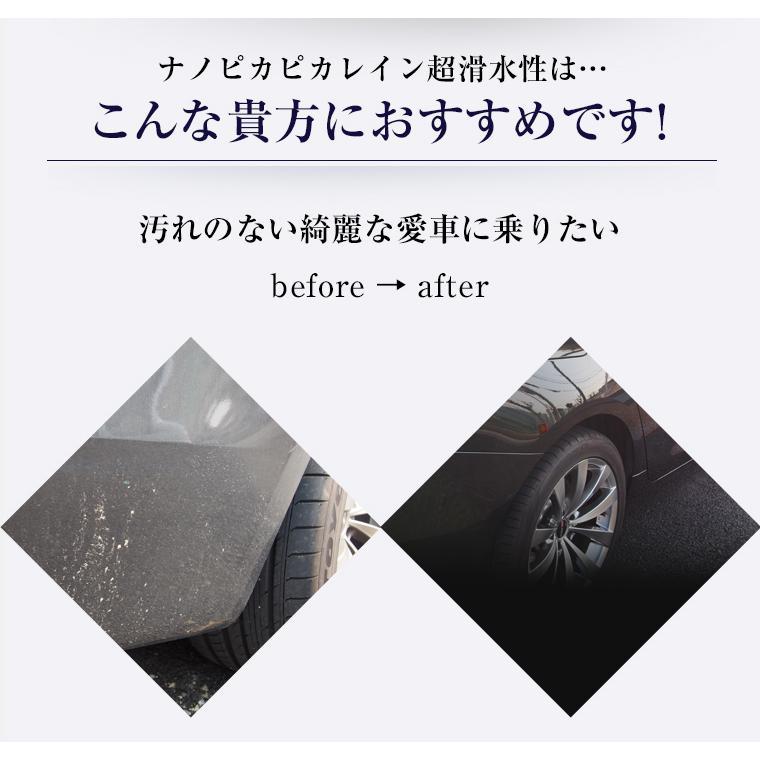 ガラスコーティング 車 ガラスコーティング剤 メンテナンス剤 ナノピカピカレイン 滑水性 スプレーして拭くだけ簡単コーティング! 送料無料 TOP-KMAINTE-250|pika2rain|03