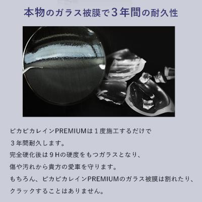 【☆期間限定2940円分のプレゼント付き!】ガラスコーティング 車 ガラスコーティング剤 ピカピカレイン プレミアム 滑水性 洗車 TOP-PREMIUM|pika2rain|06