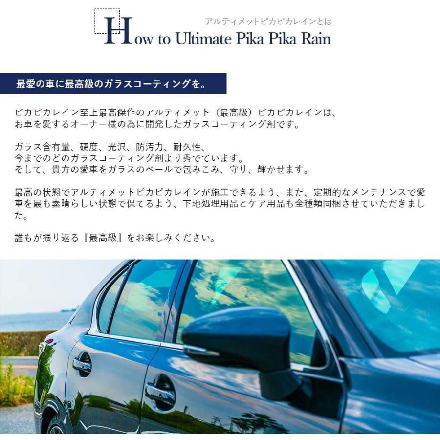 ガラスコーティング 車 最高級ガラスコーティング剤 アルティメットピカピカレイン 全商品セット 滑水性 洗車 送料無料|pika2rain|02