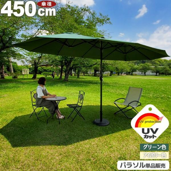 ガーデンパラソル 大型 パラソル UV おしゃれ 450cm