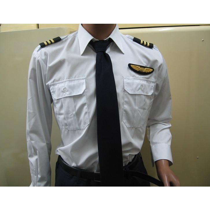 パイロット用品 JAL-Typeパイロットシャツ(長袖・JAL型タイプ) pilothousefs-cima 02