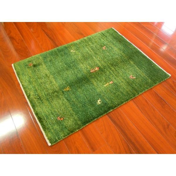 【新品】ギャッベ イラン シラーズ産 手織り草木染め 玄関マット オールシーズンOK G-1172