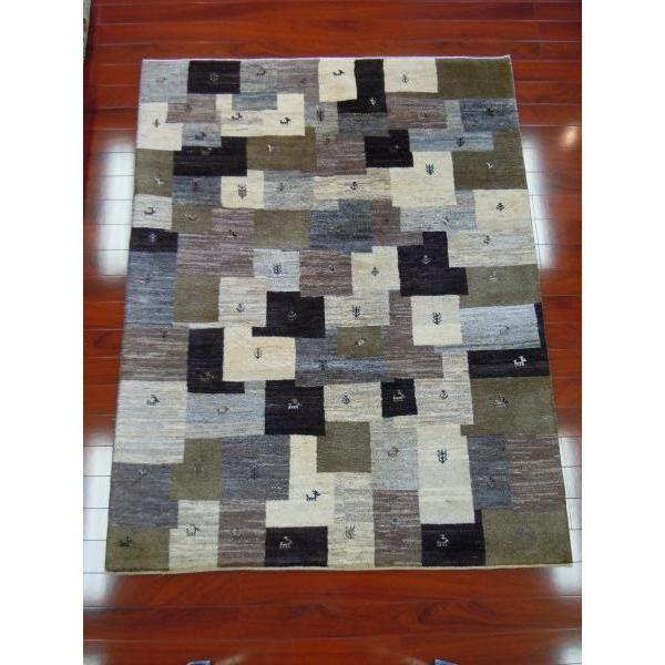 ギャッベ/ギャベ/イラン製シラーズ産手織り草木染めリビングサイズ G-939