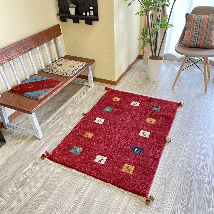 ギャッベ/ギャベ/イラン製シラーズ産/手織り草木染め/ G-966