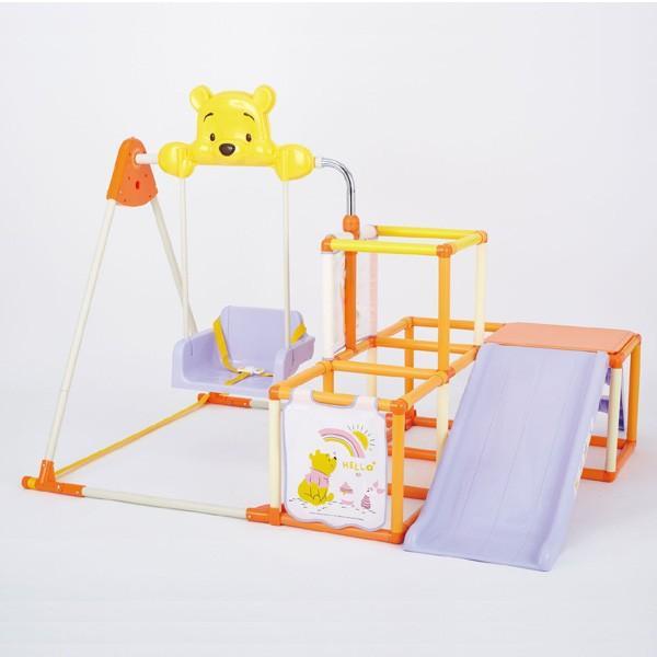 正規品 ジャングルジム 室内 くまのプーさん おりたたみ キッズパークEX 遊具 滑り台 折りたたみ ブランコ 子供 子ども 孫 kids baby 誕生日 プレゼント|pinkybabys|02