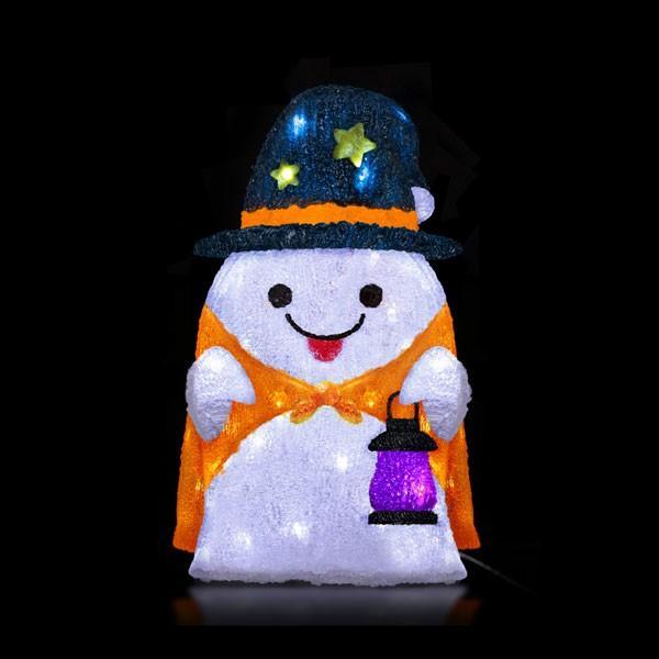 ハロウィン雑貨 LEDクリスタルモチーフ ランタンゴースト HW-1378 友愛玩具 パーティ 仮装 イベント コスプレ カボチャ ドクロ