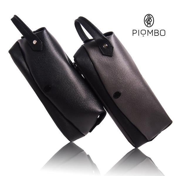 PIOMBO ピオンボ スプリットレザーセカンドバッグ シングルファスナー メンズバッグ  メンズポーチ バッグインバッグ pisd