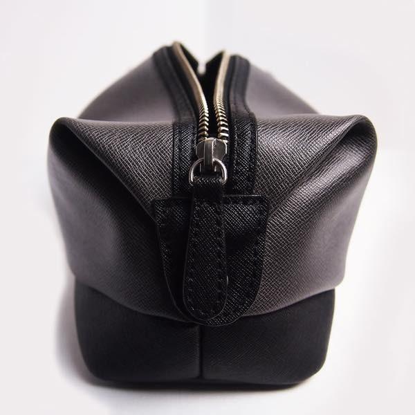 PIOMBO ピオンボ スプリットレザーセカンドバッグ シングルファスナー メンズバッグ  メンズポーチ バッグインバッグ pisd 12