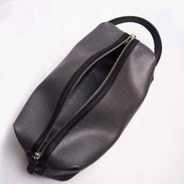 PIOMBO ピオンボ スプリットレザーセカンドバッグ シングルファスナー メンズバッグ  メンズポーチ バッグインバッグ pisd 13