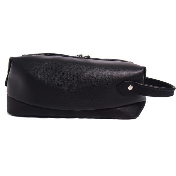 PIOMBO ピオンボ スプリットレザーセカンドバッグ シングルファスナー メンズバッグ  メンズポーチ バッグインバッグ pisd 03