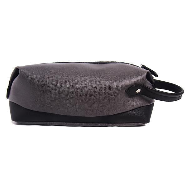 PIOMBO ピオンボ スプリットレザーセカンドバッグ シングルファスナー メンズバッグ  メンズポーチ バッグインバッグ pisd 05