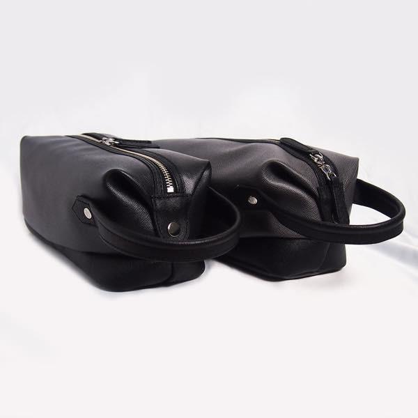PIOMBO ピオンボ スプリットレザーセカンドバッグ シングルファスナー メンズバッグ  メンズポーチ バッグインバッグ pisd 06