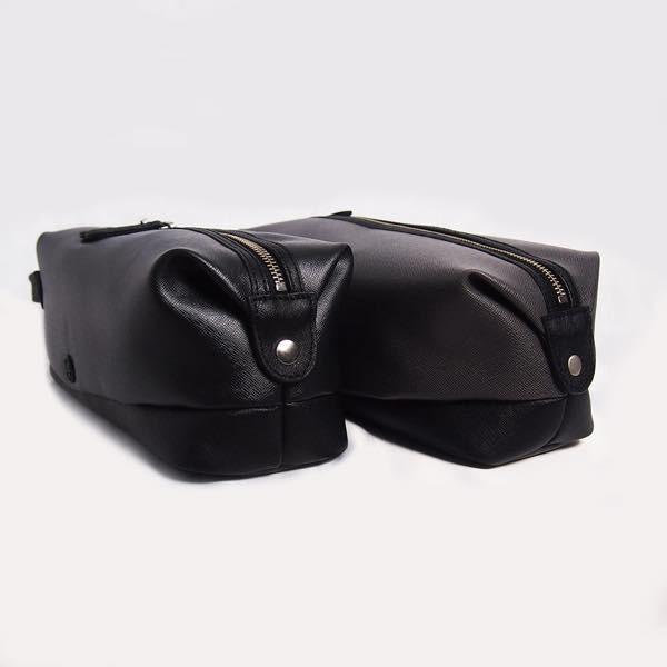 PIOMBO ピオンボ スプリットレザーセカンドバッグ シングルファスナー メンズバッグ  メンズポーチ バッグインバッグ pisd 07