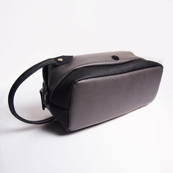 PIOMBO ピオンボ スプリットレザーセカンドバッグ シングルファスナー メンズバッグ  メンズポーチ バッグインバッグ pisd 08