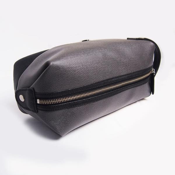 PIOMBO ピオンボ スプリットレザーセカンドバッグ シングルファスナー メンズバッグ  メンズポーチ バッグインバッグ pisd 09