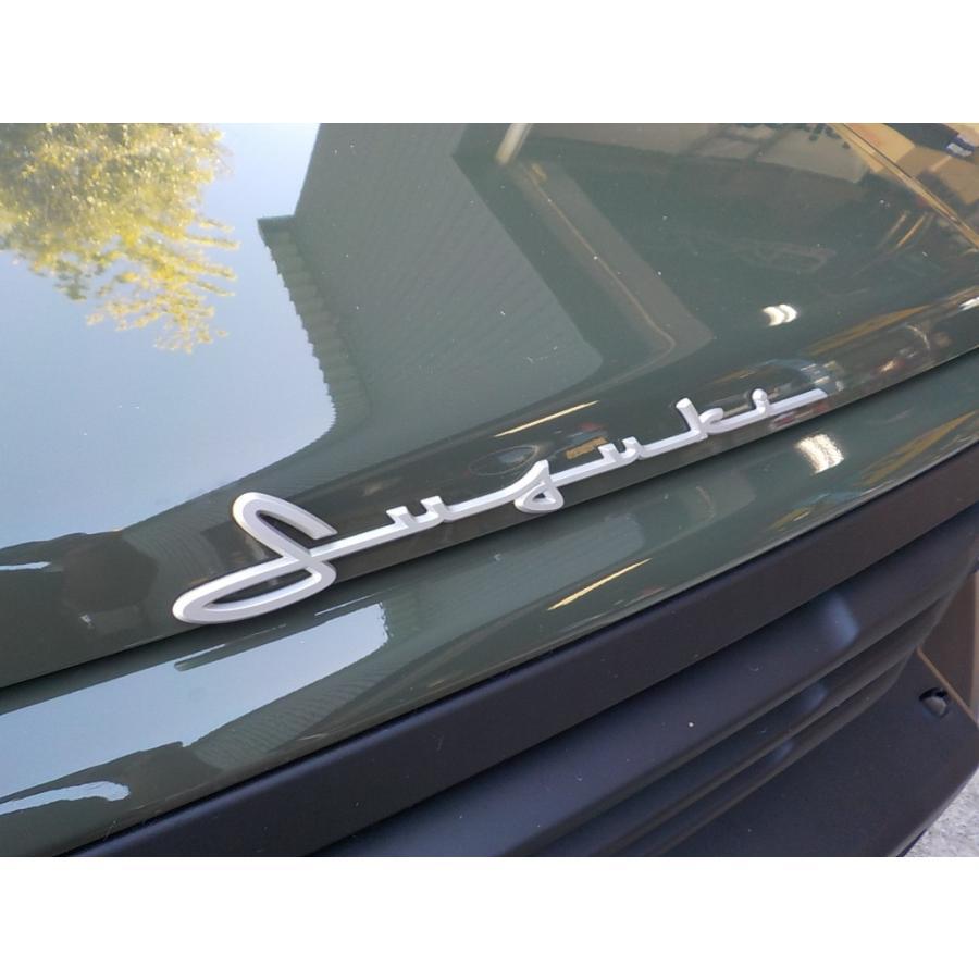 スズキ純正 「SUZUKI」ロゴエンブレム 筆記体調 シルバー 貼付タイプ|piston|03
