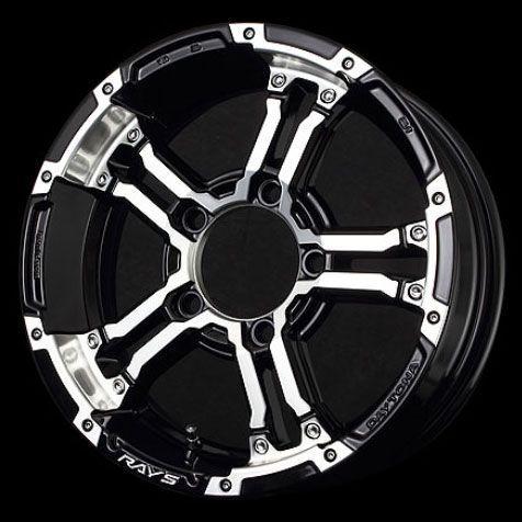 新型ジムニー適合ホイール RAYS デイトナFDX-J 「ブラック/ダイヤモンドカット」(インセット+20) 4本セット|piston