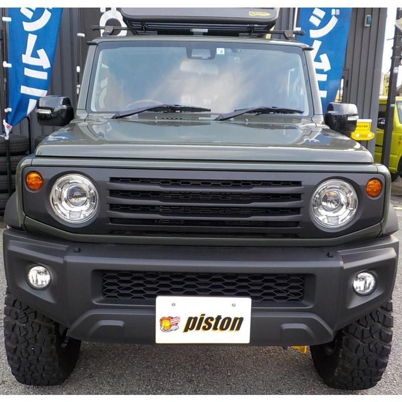 新型ジムニー/ジムニーシエラ JB64/74W用 APIO「ABSタクティカルフロントグリル」アピオ piston 02