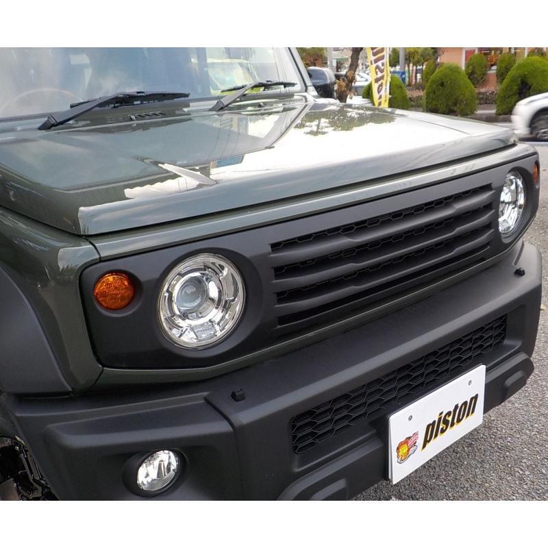 新型ジムニー/ジムニーシエラ JB64/74W用 APIO「ABSタクティカルフロントグリル」アピオ piston 03