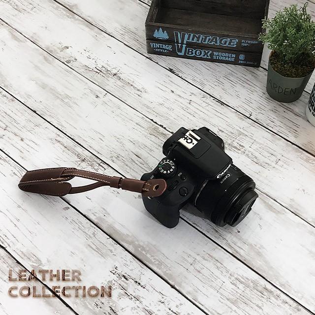 カメラ ハンドストラップ カメラストラップ 革 3色   手首 ストラップ 一眼レフ ミラーレス デジカメ レザー リストストラップ リストストラップ pit-life 07