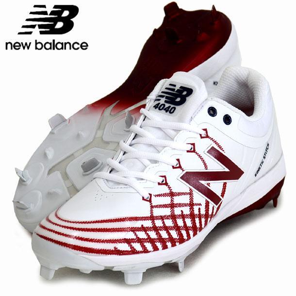 高級感 L4040 AS5 New Balance ニューバランス AS5 野球スパイク 19AW(L4040AS5D-WHITE/RED Balance New/NAVY), 海上郡:f13e97d6 --- airmodconsu.dominiotemporario.com