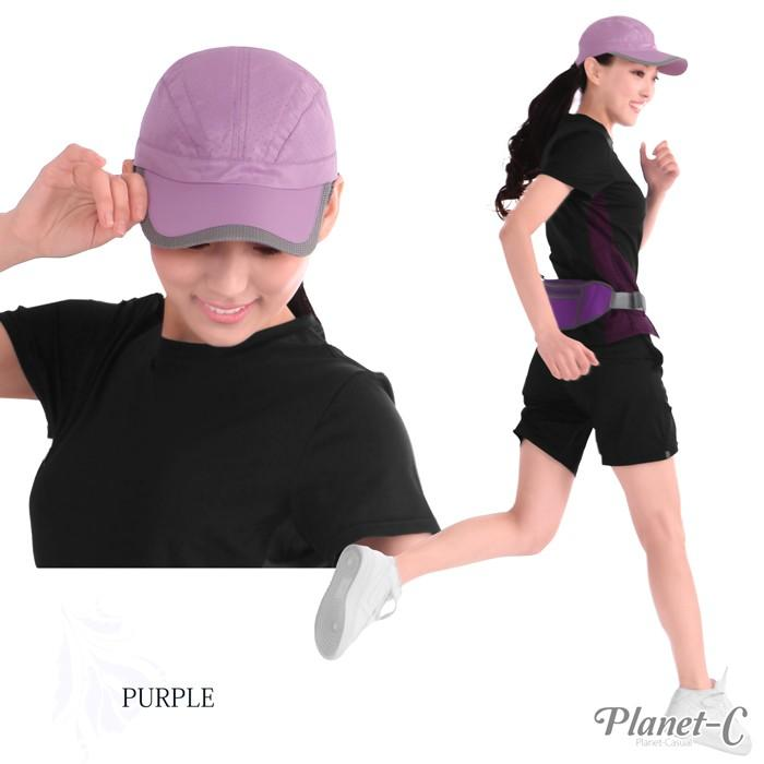 ランニングキャップ レディースメンズ 帽子 キャップ フリーサイズ COOLMAX 軽量 日焼け対策 紫外線 速乾 ランニング ウォーキング テニス SS 春夏 c01|planet-c|07