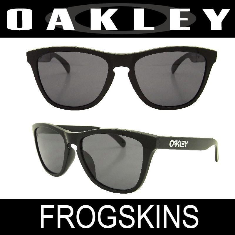 OAKLEY(オークリー) サングラス アジアンフィット フロッグスキン ポリッシュドブラック/グレー (FROGSKINS 9245-01)
