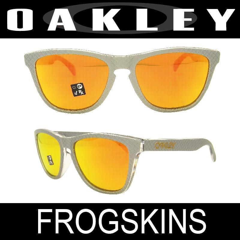 【国内正規品】(アジアンフィット) OAKLEY オークリー フロッグスキン シルバー/ファイアイリジウム (FROGSKINS 9245-6054)