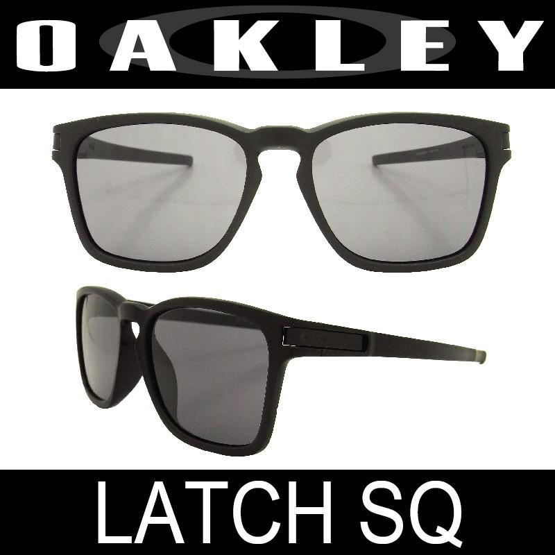 OAKLEY(オークリー) サングラス アジアフィット ラッチスクウェア(LATCH SQ 9358-01)マットブラック/グレー