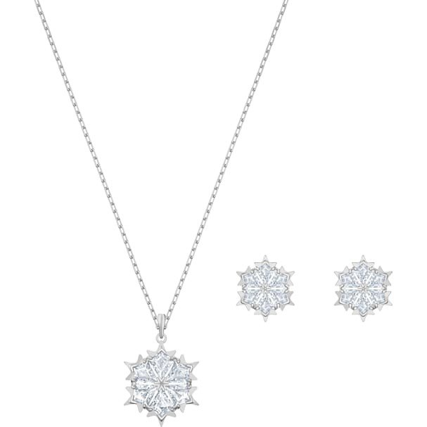 経典ブランド スワロフスキー Swarovski Magic Snowflake セット ネックレス ピアス 5506235, フシミク cdbc27f4