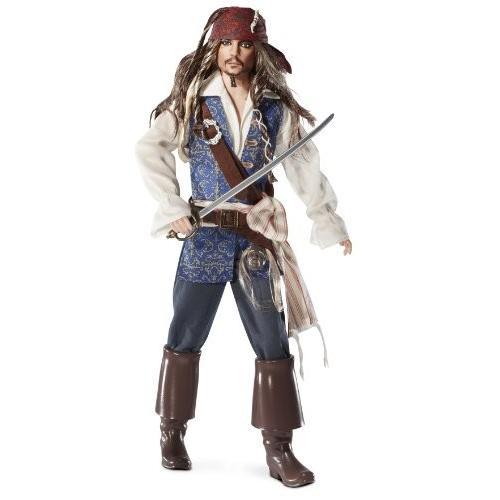 バービーBarbie Collector Pirates of The Caribbean: On Stranger Tides Captain Jack Sparrow Doll