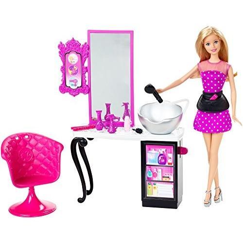即納 バービースタイルサロン 美容院 プレイセット バービー人形 CMM55 ディスプレイやプレゼントに最適