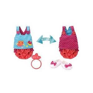ベビーアライブBaby Alive Pretty Ruffles Reversible 2-in-1 Bloomer Set Doll Outfit, size LargeFits My Baby Alive, My Real Ba