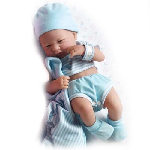 ジェーシートイズJC Toys Berenguer Boutique La Newborn 14-Inch Life-Like Real Boy Doll 9 Piece Gift Set, 青