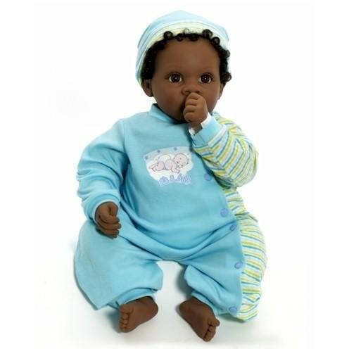 リー・ミドルトンLee Middleton Cuddle Baby Angel Love Boy (Dark) 褐色/褐色 2571
