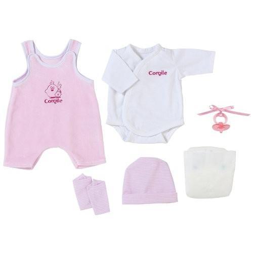 コロールCorolle Fashions 14-Inch ピンク Layette Set