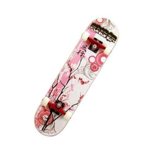 スタンダードスケートボードPunisher Skateboards 9001 Cherry Blossom Complete Skateboard, 赤, 31-Inch