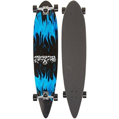 ロングスケートボードKrown Blue Flame Complete Longboard Skateboard