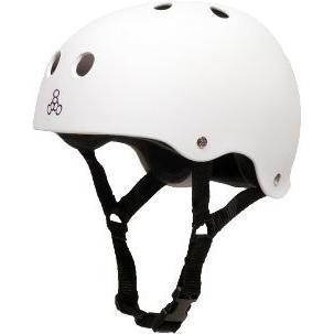 ヘルメットTriple Eight Sweatsaver Liner Skateboarding Helmet, 白い Rubber, X-Large