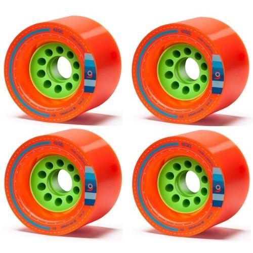 ウィールOrangatang Kegel 80 mm 80a Downhill Longboard Skateboard Cruising Wheels (オレンジ, Set of 4)