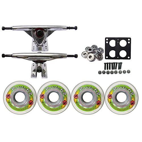 ウィールTGM Skateboards KRYPTONICS Route Truck Wheel Pack 62mm Clear 180mm Raw